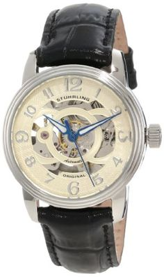 Stuhrling Original Women's 107EL.111531 Classic Delphi Stainless Steel Automatic Skeleton Black Watch Sale