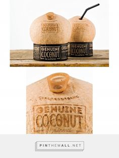 Genuine Coconut Water. Source: Packaging Digest. #SFields99 #packaging #design #inspiration #ideas #innovation #structural #coconut #water