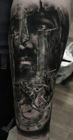 Pavel Krim - New Tattoo Models Mayan Tattoos, Leg Tattoos, Body Art Tattoos, Tattoos For Guys, Sleeve Tattoos, Steampunk Tattoo Sleeve, Samurai Tattoo Sleeve, Warrior Tattoos, Viking Tattoos