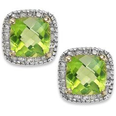 Blue Nile Peridot And White Topaz Dangle Earrings 132 Liked On Polyvore Featuring Jewelry Per