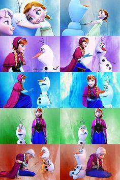 Anna & olaf colors ❤️