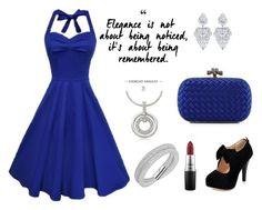 """Blue Elegance"" by lucysefco on Polyvore featuring Swarovski, Bottega Veneta and MAC Cosmetics"