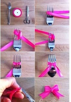 how to tie a bow with a fork