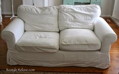 Restyle Relove: How To Restuff Ikea Ektorp Sofa Cushions Cheap, Easy and Quick