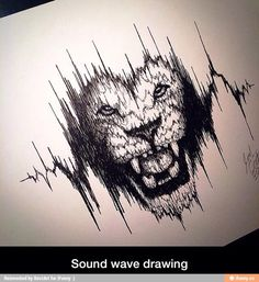 I love this lion sound wave tattoo