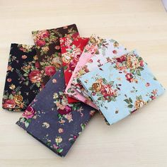 140cm / 55 inch Width Flower Floral Rose Pattern Thin Cotton