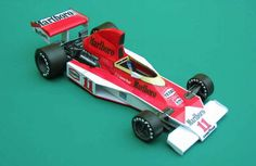 F1 Paper Model - 1976 GP USA McLaren M23 Paper Car Free Vehicle Paper Model Download