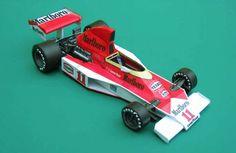 F1 Paper Model - 1976 GP USA McLaren M23 Paper Car Free Vehicle Paper Model Download