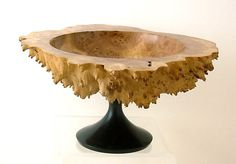 Small, but lovely. Natural Mallee Burl and Ebony Turned Art Pedestal by FGVminiATURES, $95.00
