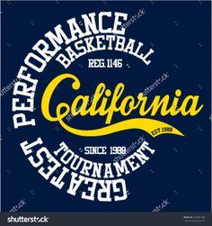 College California sport typography, t-shirt graphics, vectors