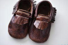 moccasins from freshly picked