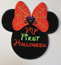 Iron On Applique  My First Halloween Mouse by BigBlackDogDesigns