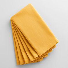 Mimosa Yellow Buffet Napkins Set of 6 - v1