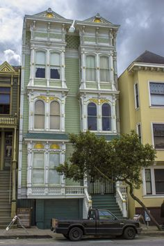 A Victorian style house in the Pacific Heights district of San Francisco, California