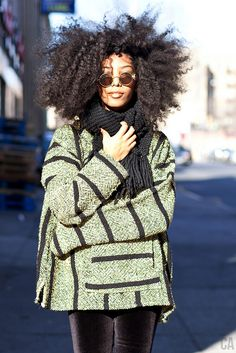 The Apple Models Team loves this example of quirky and cool winter street style. PERFECT.