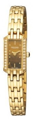 Relógio Pulsar Women's PEX542 Crystal Tigers Eye Dial Watch #Relógio #Pulsar