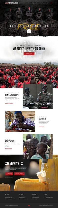 Far Reaching Ministries (FRM) – Ui redesign concept for website by Taylor Perrin @TaprootCreative.