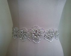 Wedding Belt Bridal Belt Sash Belt Crystal by LucyBridalBoutique