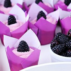#cassis #cupcakes #purple #pink