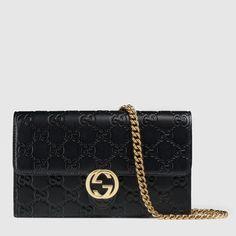 Gucci Icon Gucci Signature chain wallet
