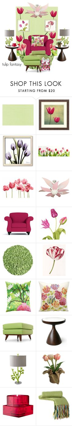 """""""SPRING WALLPAPER....Tulip Fantasy"""" by beleev ❤ liked on Polyvore featuring interior, interiors, interior design, home, home decor, interior decorating, Brewster Home Fashions, Amanti Art, Schick and Craftmade"""