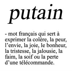 "Meilleurs Citations De Jalousie : ""Putain a French word used to express anger fear envy joy happiness French Words, French Quotes, The Words, Love Quotes, Funny Quotes, Inspirational Quotes, Art Quotes, Jealousy Quotes, Quotations"