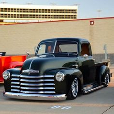 1950 #Chevy #Pickup - With a few changes. #Custom #Style #Cool #Grille #Chrome