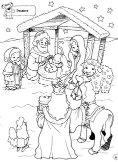 Figuras Maestra Jardinera Nº 8 Juan López Lombardo Google+ Christmas Nativity, Christmas Paper, Christmas Crafts For Kids, Christmas Activities, Christmas Colors, School Coloring Pages, Bible Coloring Pages, Adult Coloring Pages, Coloring Books