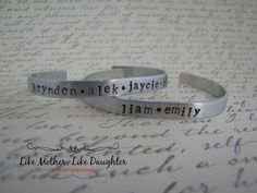 Valentines DayHand Stamped Aluminum Cuff by MotherDaughterJewel, $15.00