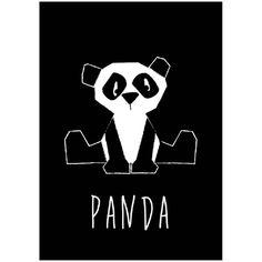 Kaart panda zwart-wit. Deze panda dierenkaart in stoer zwart wit is niet alleen leuk om neer te zetten of aan de muur te hangen, maar natuurlijk ook om naar een kleine dierenvriend op te sturen! Kinderkaartjes monochrome decoratie kinderkamer babykamer