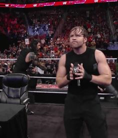 The way he holds the mic. Roman Reigns Gif, Wwe Gifs, Roman Reigns Dean Ambrose, Wwe Superstar Roman Reigns, The Shield Wwe, Aj Styles, Seth Rollins, Save My Life, Wwe Superstars
