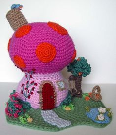 -Crochet Mushroom Fantasy House by ~meekssandygirl on deviantART
