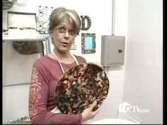 Kathi Dougherty of KDD Fused Glass on HGTV's That's Clever. Bowl and frame