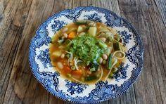 Fransk bønnesuppe med pistou (Soupe au pistou)