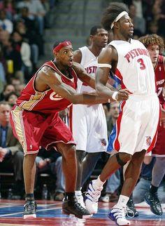 LeBron James Cleveland Cavaliers Ben Wallace Detroit Pistons