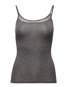 Juliana - Chemise Top (Grey Melange) (310 kr) - Femilet - | Boozt.com Black Tops, Basic Tank Top, Bodysuit, Grey, Sweaters, Women, Fashion, Dress Shirt, One Piece Bodysuit