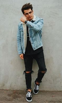 23 best winter college outfits for guys streetwear, grunge, retro, photo and video Outfits Casual, Winter Fashion Outfits, Mode Outfits, Outfits For Teens, Boy Fashion, Men Casual, Mens Fashion, Guy Outfits, Fashion Clothes