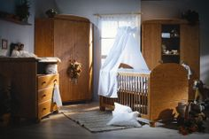 Old style Tomi nursery. Solid Pine, Cribs, Nursery, Bed, Furniture, Home Decor, Style, Cots, Swag