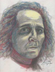'E viene sera' pastels on canvas 27 x35 cm Tiziana 'Tirtha' Giammetta
