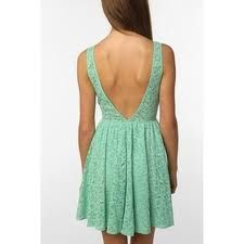 pins & needles backless lace dress from Urban Outfitters. Saved to My Closet. Shop more products from Urban Outfitters on Wanelo. Fashion Moda, Look Fashion, Fashion Beauty, Dress Fashion, Spring Fashion, Fashion Design, Vestidos Color Menta, Mint Dress Lace, Green Dress