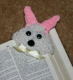 Snuggly Bunny Corner Bookmark free crochet pattern