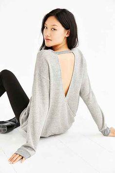 Silence + Noise Surplice Back Sweatshirt - Urban Outfitters