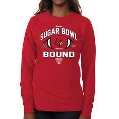 size 40 64676 b722a Louisville Cardinals Women s 2013 Sugar Bowl Bound Long Sleeve T-Shirt - Red