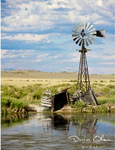 Homesick for the prairie! Windmill in the Sandhills, Nebraska, U. Country Farm, Country Life, Country Living, Farm Windmill, Old Windmills, Into The West, Water Mill, Ranch, Water Tower