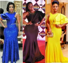 Joselyn Dumas Moesha Boduong and Sika in style war African Men Fashion, African Dresses For Women, Africa Fashion, African Attire, African Wear, African Women, Dinner Gowns, Couture Fashion, Men's Fashion