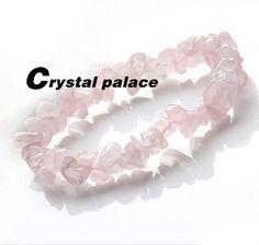 $3.53 Natural Pink Crystal Stone Gravel Irregular Bracelets # 21016 - BornPrettyStore.com ***10% Off code = GAWH10 #BornPrettyStore***