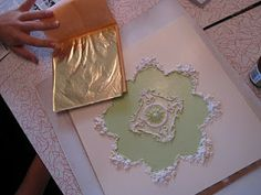 My Miniature French Chateau: Gold Leafed Ceiling
