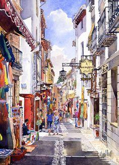 Shops in the Albaicin, Granada