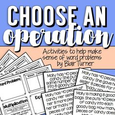 Choose an Operation: Word Problems