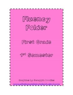 Do y'all love sending fluency folders home as much as me? The kids love to read to their parents at night. Fluency folders are a great way to make sure your students are reading every night. I have included dolch words, phrases, and decodable stories. Reading Fluency, Reading Intervention, Reading Strategies, Reading Activities, Reading Skills, Teaching Reading, Guided Reading, Reading Time, Learning